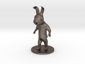 Rabbit in Polished Bronzed Silver Steel