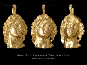 Alexander as the sun god Helios, pendant in Raw Bronze
