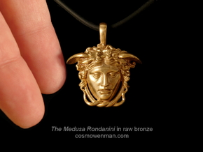 Medusa Rondanini, mini pendant in Natural Bronze