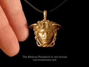 Medusa Rondanini, mini pendant in Raw Bronze