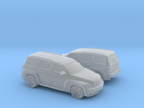 1/160 2X 2006-11 Chevrolet HHR in Smooth Fine Detail Plastic