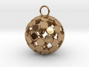 ColorBall Pendant in Polished Brass