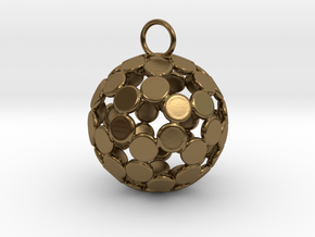 ColorBall Pendant in Polished Bronze