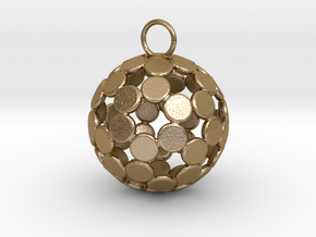 ColorBall Pendant in Polished Gold Steel