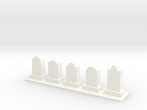 Row of Tomb Stones in White Strong & Flexible Polished