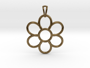 Share Your Smile With Me Sunflower Pendant (Big)  in Polished Bronze