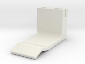 Legacy Morpher Buckler Clip - Left in White Natural Versatile Plastic