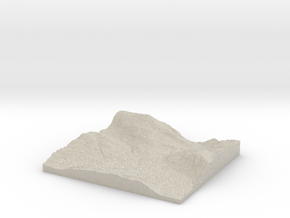 Model of Bringsås in Natural Sandstone