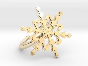 Snowflake Ring 2 d=19.5mm Adjustable h21d195a in 14K Yellow Gold