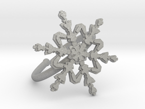 Snowflake Ring 2 d=19.5mm Adjustable h21d195a in Aluminum