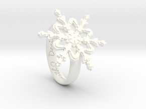 Snowflake Ring 2 d=16.5mm h35d165 in White Processed Versatile Plastic