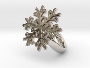 Snowflake Ring 1 d=16.5mm h35d165 in Platinum