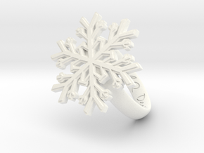 Snowflake Ring 1 d=16.5mm h35d165 in White Processed Versatile Plastic