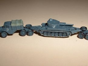 Hvy. Tank-Transporter Porsche Type 142 1/285 6mm in Frosted Ultra Detail