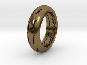 TIRE RING in Polished Bronze