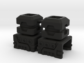 Combiner Port Extenders in Black Natural Versatile Plastic: Small
