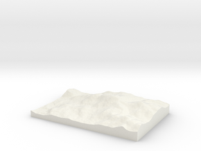 Bill Merrill Mountain -- Topophile Model #0135 in White Natural Versatile Plastic