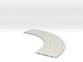"Double Trolley Track 7"" radius inside curve 2"" cen in White Natural Versatile Plastic"