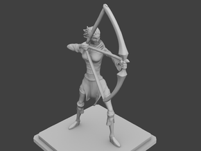 Rogue Archer figurine in Smooth Fine Detail Plastic