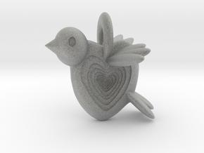 Valentine Bird in Metallic Plastic