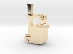 Portable xray machine in 14k Gold Plated Brass