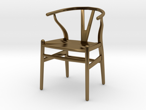 Wishbone style chair 1/12 scale  in Polished Bronze