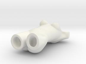 Female Torso Vase in White Natural Versatile Plastic