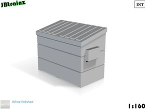 Dumpster small (1:160) in White Strong & Flexible Polished
