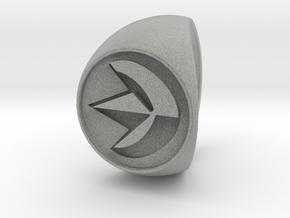 Custom Signet Ring 19 in Metallic Plastic