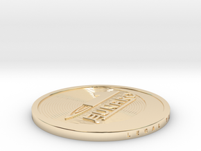 1 Lunaro coin 2015. in 14K Yellow Gold