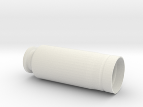 "30x90mm Casing, ""Type A"" Style in White Natural Versatile Plastic"