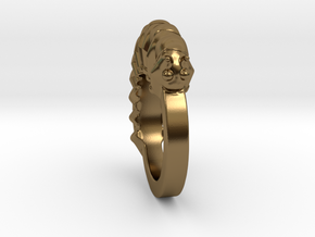 Caterpillar Ring - US Size 9 in Polished Bronze