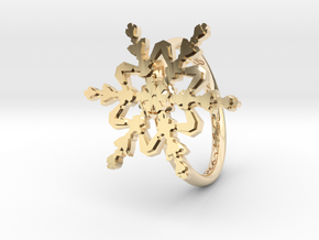 Snowflake Ring 2 d=16.5mm h21d165 in 14K Yellow Gold