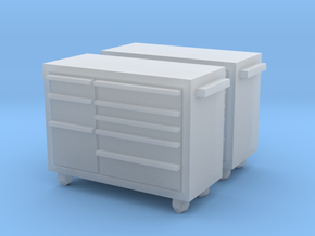 1:72 2x Snap-On Toolbox in Smooth Fine Detail Plastic