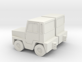 1:72 GSE Airport Baggage Tractor (2pc) in White Natural Versatile Plastic
