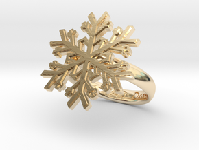 Snowflake Ring 1 d=17.5mm h35d175 in 14K Yellow Gold