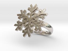 Snowflake Ring 1 d=17.5mm h35d175 in Platinum