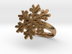 Snowflake Ring 1 d=17.5mm h35d175 in Polished Brass