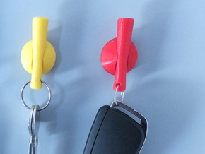 Elegant Key Hook with Keychain in Yellow Strong & Flexible Polished