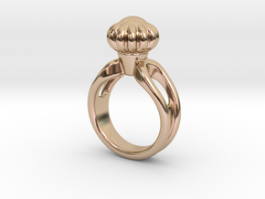 Ring Beautiful 14 - Italian Size 14 in 14k Rose Gold Plated Brass