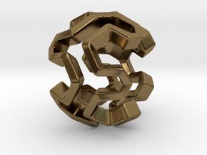 HONEYBOMB Capsule, Pendant. Sweet Explosion. in Polished Bronze