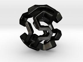 HONEYBOMB Capsule, Pendant. Sweet Explosion. in Matte Black Steel
