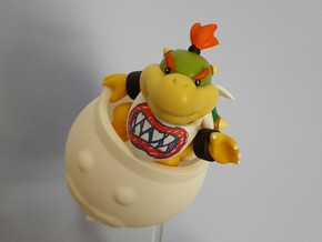 Koopa Clown Car Jr.  in White Processed Versatile Plastic