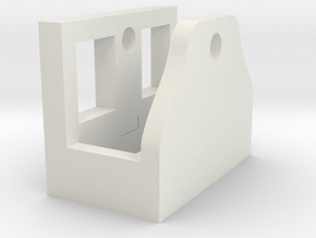 M4/M16 Magazine Winder Mount Block in White Strong & Flexible
