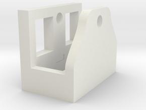 M4/M16 Magazine Winder Mount Block in White Natural Versatile Plastic