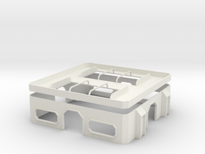 15mm Hub Building in White Natural Versatile Plastic
