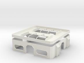 15mm Hub Building in White Natural Versatile Plastic