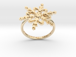 Snowflake Ring 2 d=17.5mm h21d175 in 14K Yellow Gold