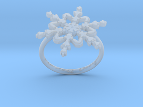 Snowflake Ring 2 d=17.5mm h21d175 in Smooth Fine Detail Plastic