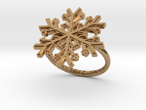 Snowflake Ring 1 d=17.5mm h21d175 in Polished Brass